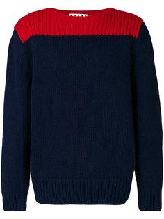 свитер колор блок в рубчик  Marni