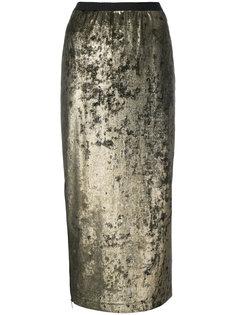 юбка-карандаш с эффектом металлик  Antonio Marras