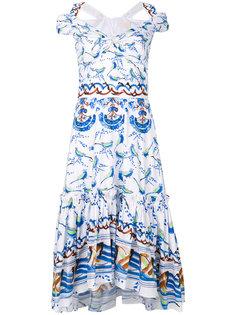 платье с рисунком из птиц Peter Pilotto