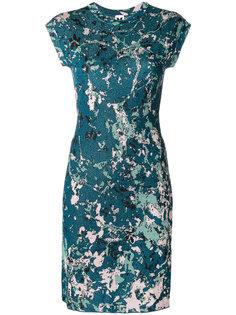 приталенное платье с рукавами кап M Missoni