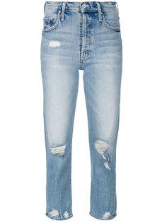 джинсы с протертыми деталями Mother