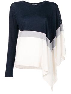 свитер в стиле колор-блок Salvatore Ferragamo