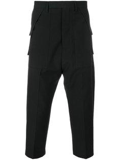 брюки карго с заниженным шаговым швом  Rick Owens