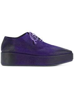 ботинки с эффектом потертости на платформе Marsèll