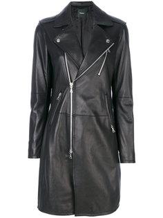 удлиненная кожаная куртка  Theory