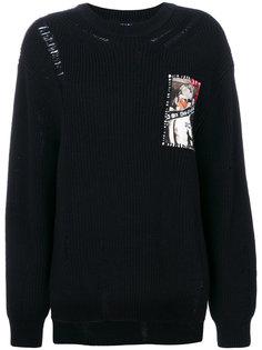 вязаный свитер с нашивкой Sjyp