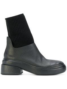 высокие ботинки с трикотажными вставками Marsèll