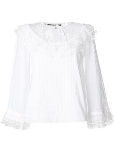 кружевная блузка с оборками  McQ Alexander McQueen