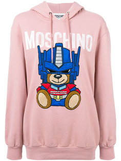 толстовка с капюшоном Transformer Bear Moschino