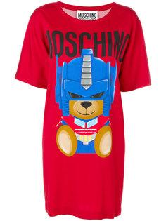 платье-футболка с изображением медведя-трансформера Moschino