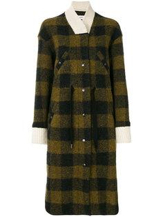 клетчатое пальто на пуговицах Isabel Marant Étoile