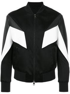 куртка-бомбер с контрастными вставками Neil Barrett
