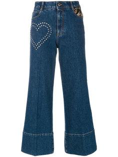 укороченные джинсы с заклепками Stella McCartney