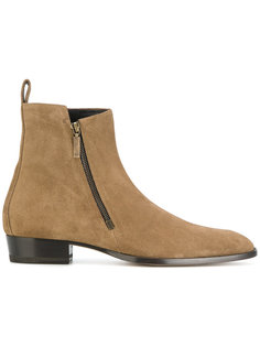 ботинки Wyatt 30 на молнии сбоку Saint Laurent