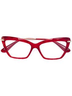 очки в оправе формы кошачий глаз Dolce & Gabbana Eyewear