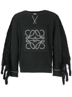свитер с декорированными рукавами Loewe