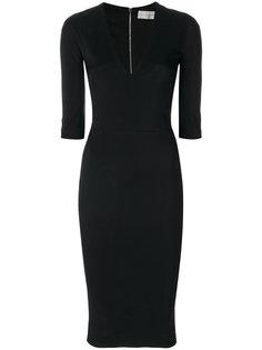 платье по фигуре с V-образным вырезом Victoria Beckham