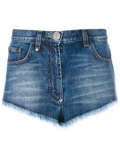 джинсовые шорты Heart Philipp Plein