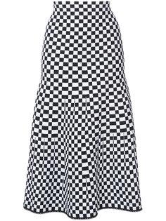 юбка А-образного силуэта в клетку Alexander Wang