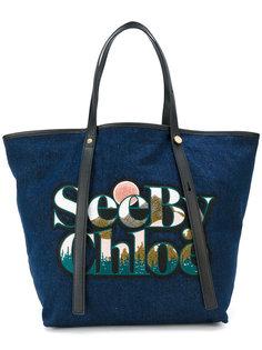 сумка-тоут с нашивкой  See By Chloé