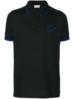 футболка-поло с вышитым логотипом  Saint Laurent