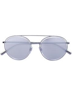 округлые солнцезащитные очки-авиаторы Giorgio Armani