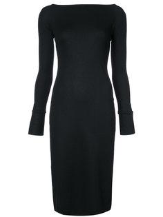 платье с вырезом-лодочка Helmut Lang