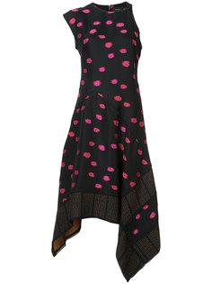 асимметричное расклешенное платье Proenza Schouler