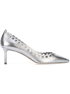 туфли-лодочки на низком каблуке с эффектом металлик Jimmy Choo