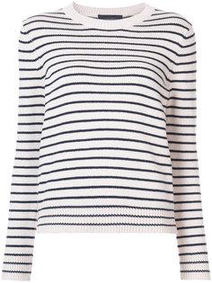 свитер в полоску с круглым вырезом Jenni Kayne