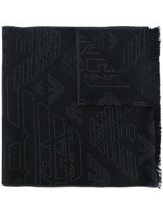 трикотажный жаккардовый шарф Emporio Armani