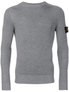 приталенный свитер с круглым вырезом Stone Island