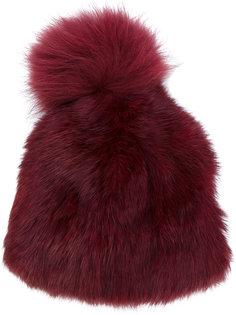 шапка с помпоном Yves Salomon Accessories