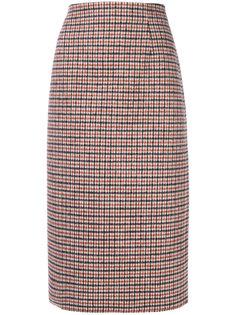 клетчатая юбка длины миди Nº21