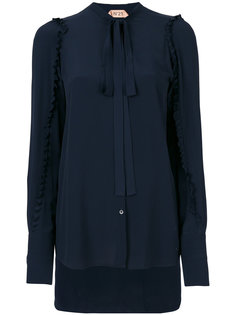 блузка с завязками на шее Nº21