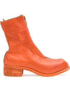 высокие ботинки с молнией спереди Guidi