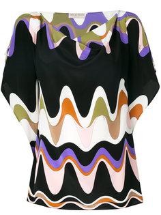 блузка с волнами Emilio Pucci