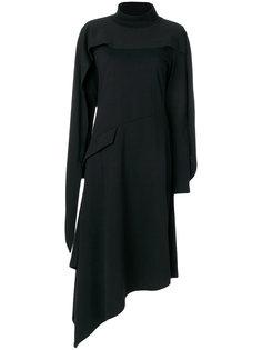 асимметричное платье с отворотной горловиной JW Anderson