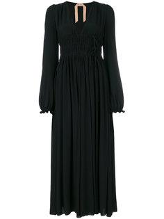 платье с драпировками Nº21
