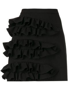 мини-юбка с оборками  MSGM
