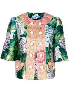 пиджак на пуговицах с цветочным принтом Dolce & Gabbana