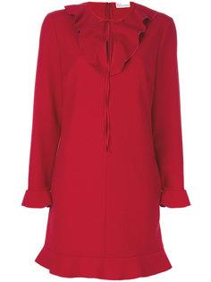 платье с оборкой на воротнике  Red Valentino