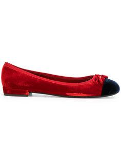 балетки с закругленным носком Prada