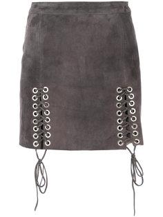 юбка с декором из люверсов Manokhi