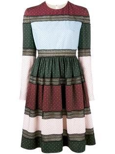 платье с расклешенной юбкой и узорами Huishan Zhang