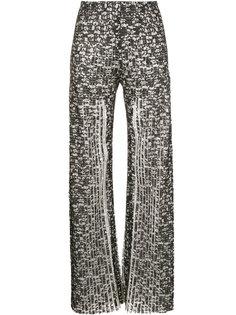 плиссированные кружевные брюки Huishan Zhang