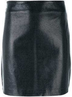 облегающая кожаная юбка Manokhi