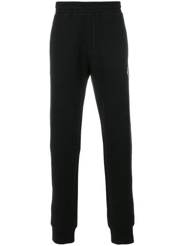 спортивные брюки с манжетами и нашивкой с пауком Lanvin