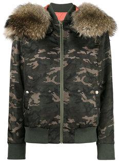 камуфляжная куртка с меховой оторочкой Mr & Mrs Italy