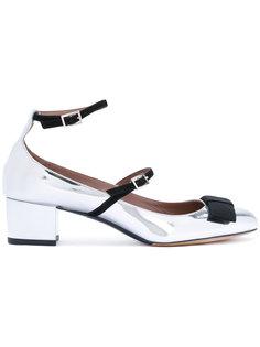 металлизированные туфли с бантами Tabitha Simmons